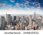 new york. beautiful panoramic... | Shutterstock . vector #244810522