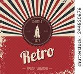 retro space rocket | Shutterstock .eps vector #244830676