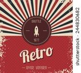 retro space rocket | Shutterstock .eps vector #244830682