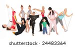sports people group collage | Shutterstock . vector #24483364