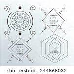 geometric labels retro over... | Shutterstock .eps vector #244868032