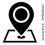 map pointer icon | Shutterstock .eps vector #244868662