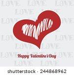 happy valentine illustration ... | Shutterstock .eps vector #244868962