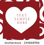 heart  illustration waves and... | Shutterstock .eps vector #244868986