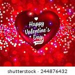 valentines day design. red... | Shutterstock .eps vector #244876432