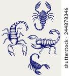 scorpion pandinus imperator.... | Shutterstock .eps vector #244878346