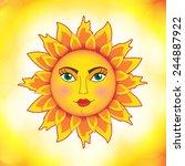 a beautifull sun   Shutterstock .eps vector #244887922