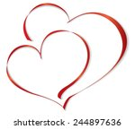 Two Lovers Heart. Vector...