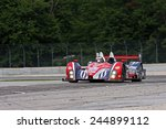 Elkhart Lake Wisconsin, USA - August 18, 2012: Road America Road Race Showcase, ALMS / IMSA LMP. American Le Mans Series. Henri Richard, Duncan Ende, Dempsey Racing, - stock photo