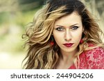 beautiful woman portrait | Shutterstock . vector #244904206