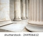 Ancient Greek Pillars And...
