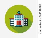 building hospital flat icon... | Shutterstock .eps vector #244910782
