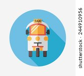 transportation taxi flat icon... | Shutterstock .eps vector #244910956