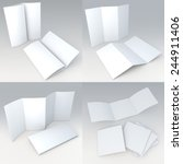 3d clean white four types of... | Shutterstock . vector #244911406