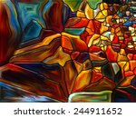 stained glass pattern series.... | Shutterstock . vector #244911652