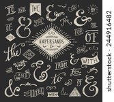 hand lettered ampersands and... | Shutterstock .eps vector #244916482