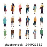 people street fashion vector...   Shutterstock .eps vector #244921582