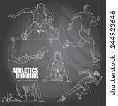 illustration of athletics. hand ... | Shutterstock .eps vector #244923646