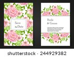 wedding invitation cards with... | Shutterstock . vector #244929382