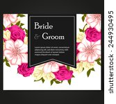 wedding invitation cards with... | Shutterstock .eps vector #244930495