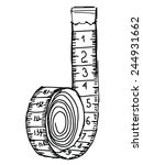 hand drawn  sketch illustration ... | Shutterstock .eps vector #244931662
