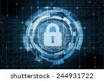 safety concept  closed padlock... | Shutterstock . vector #244931722