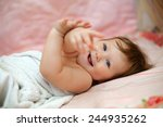 bright picture of adorable baby ... | Shutterstock . vector #244935262