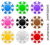casino chips on a white... | Shutterstock .eps vector #244936045