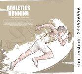 athletics background design.... | Shutterstock .eps vector #244936996