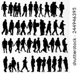 people silhouettes collection | Shutterstock .eps vector #244946395