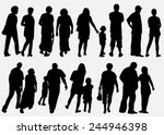 people silhouettes collection | Shutterstock .eps vector #244946398