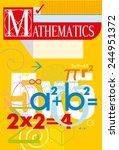 mathematics. vector cover | Shutterstock .eps vector #244951372