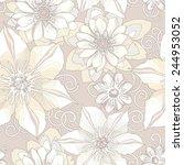 floral seamless pattern.... | Shutterstock .eps vector #244953052