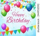 happy birthday greeting card... | Shutterstock .eps vector #244953592