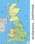 united kingdom   highly... | Shutterstock .eps vector #244954468