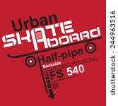 Skate Board Typography   T ...