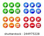 mathematical icon set  ... | Shutterstock .eps vector #244975228