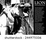 lion vintage illustration.... | Shutterstock .eps vector #244975336