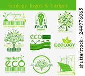 set of ecology  environment and ...   Shutterstock .eps vector #244976065