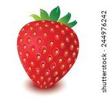 strawberry vector in white... | Shutterstock .eps vector #244976242