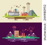 modern flat design ecological... | Shutterstock . vector #244980952
