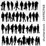 people silhouettes collection | Shutterstock .eps vector #244982968