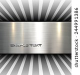 background 3d with metal... | Shutterstock .eps vector #244991386