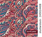 sea shell seamless pattern. it... | Shutterstock .eps vector #245014408