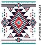 navajo aztec big pattern vector ...   Shutterstock .eps vector #245016655