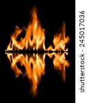 fire abstract background | Shutterstock . vector #245017036