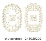 Vector Floral Frames With Copy...