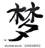 traditional chinese calligraphy ... | Shutterstock . vector #245028052