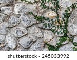 Coatbuttons On Stone Wall ...