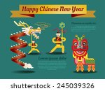 chinese new year poster and...   Shutterstock .eps vector #245039326